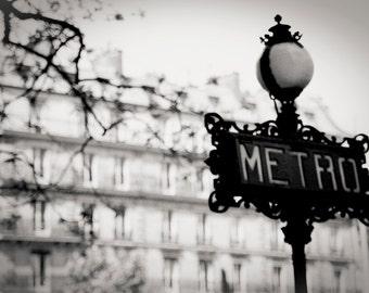 metro sign, Paris 1999.