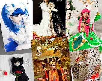 Star Wars Padme Amidala, j-rock Versailles, Aya, Mana Malice Mizer, Kamijo, Hizaki Cosplay Prints - Signed