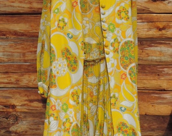 Gorgeous Vintage Carol Brent 2 Piece Dress with Vest