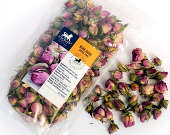 35g - 950g Rose Buds Pink Dried, SPECIAL Price + Free Delivery UK !!!