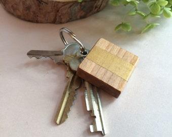 Canadian wooden Keychain, handmade