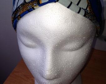 Headband style turban in Wax