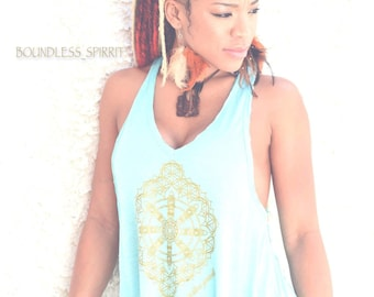 Light Blue Racer back long tank