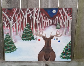 Christmas Yule Painting 20x16
