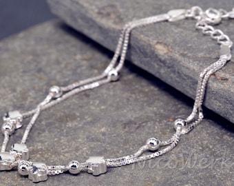 Bracelet silver bracelet Silver 925 ladies jewelry bracelet gift SAB115