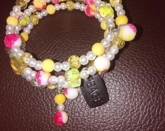 strawberry lemonade bracelet