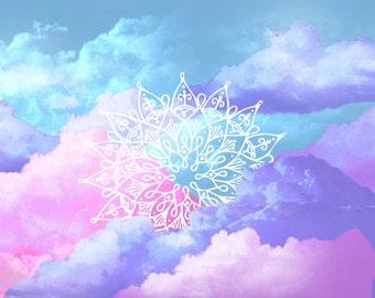 Mandala in Colourful Clouds