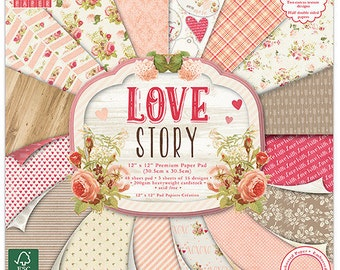 """Lot of 16 papers Fantaisis """"First Edition"""" 30.5 cm LOVE STORY"""