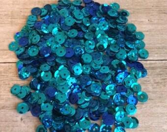 Turquoise Sequin Mix