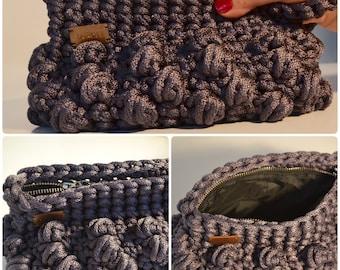 Crochet Wristlet/ evening purse/ handmade bag/ Rope