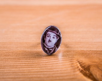 Ring Charlie Chaplin / Ring / jewelry Cabochon
