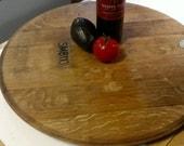 Wine barrel lazy susan
