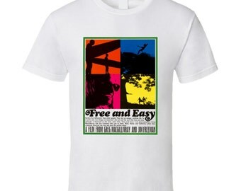 Vintage Surf T-shirt Free And Easy Film 1967