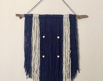 Navy Yarn Wall Hanging