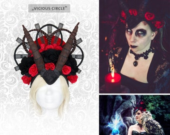 "Headdress ""vicious circle"" head dress Halloween"