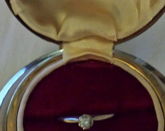 True Love Diamond Engagement Ring in Orginial Space Age UFO Box Out of the Universe Find