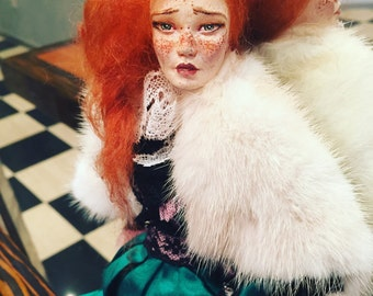 Porcelain art ball jointed doll Eva