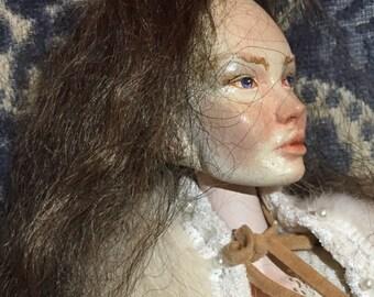 Porcelain art ball jointed doll Gisele