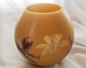 Colorado gifts-Bees wax lanterns-Wax luminaries-Beeswax Globes-Botanical candles-Columbine flowers