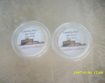 lemon cookies wax melts,super scent,candle tarts,candle melts,wickless,room fresheners,home fragrances