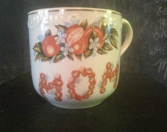 Mom Mug Florida Oranges 1950s Oversize Coffee Cup Large Vintage Kitsch Kitchen Ware