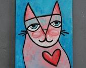 "8x10 Acrylic Cat Painting - ""Maurice"""