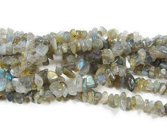 Labradorite Chips Gemstone Beads