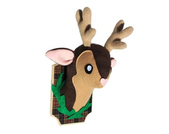 Faux Taxidermy Deer Mounted Plush