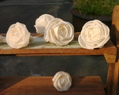 20 Rose Sola Wood Diffuser Flowers 4 cm Dia. curl/straight pedal