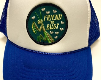 """Toddler/Kids Trucker Hat- with """"Friend to Bugs"""" patch"""