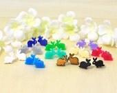 Bunny Rabbit Post Earrings Wee Wabbits - Rabbit Earrings - Bunny Jewelry