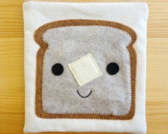 Buttered Toast Zip Pouch - Made To Order
