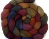 Handpainted Targhee Wool Roving - 4 oz. BOUNTIFUL- Spinning Fiber