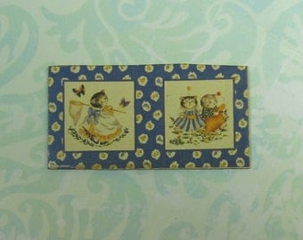 Dollhouse Miniature Kittens Prints Wall Plaque