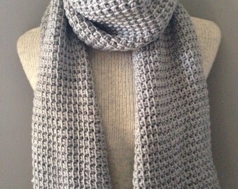 Classic Pale Gray Textured Scarf