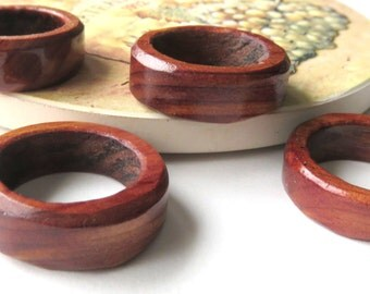 Cherry Wood Rings, Handcrafted Unisex Rings, Made to Order Wooden Jewelry, Hand Turned Wooden Rings, Nature Inspired, Special Occasion Gift