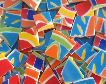 Color Blast Broken China Mosaic Tiles Multicolor Tile