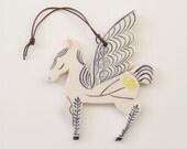 Wall Ornament || Ceramic Pegasus no. 3