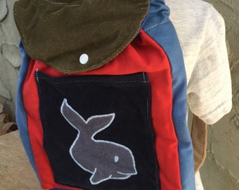 Toddler Sized Backpack -- whale