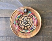 Celtic Knot Incense Burner with Reclaimed Glass Mosaic