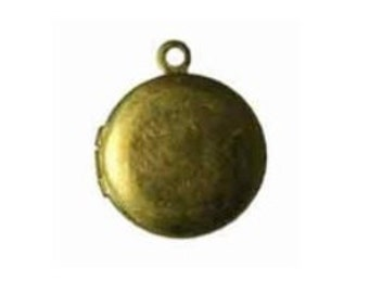 13mm round locket TEN brass locket gold locket round locket raw brass locket plain brass locket 10 (ten) lockets