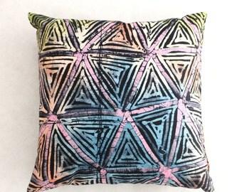 Colourful Cushions, African cushions, Multicoloured throw pillows, batik cushion, African home decor, Handmade cushions, African cushions
