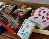 Vintage Playing Cards Lot of 14 Decks of Cards poker rummy bridge Jack Daniels whiskey cards travel collection mini cards crooked cards