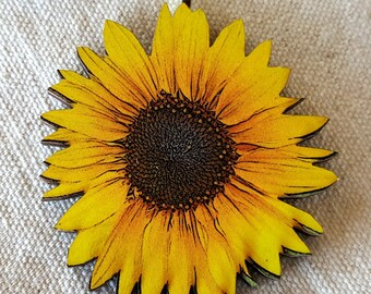 Sunflower Pendant Necklace handmade necklace flower necklace sunflower necklace flower necklace sunflower jewelry