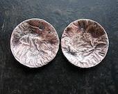 Fine Silver Fused Copper Discs - 1 pair - 19mm