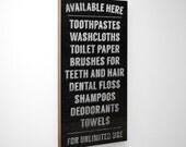 Available Here Bathroom Sign- Bathroom Decor Wall Art- Rustic Bathroom Wall Decor- Bathroom Art- Bathroom Prints- For Bathroom