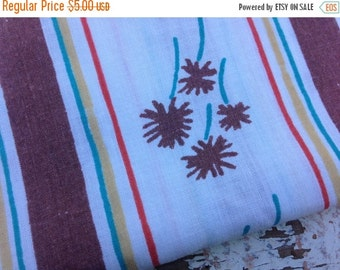 30% OFF SUPER SALE- Vintage Floral Fabric-  Reclaimed Vintage Bed Linens Fabric