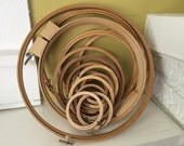 Lot of 25+ Embroidery Hoops / Rings / Dream Catchers / All sizes / Bamboo / Purse Handles