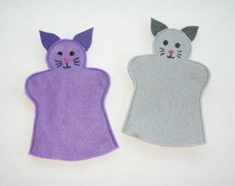 Cat Felt Hand Puppet, Pick Your Color