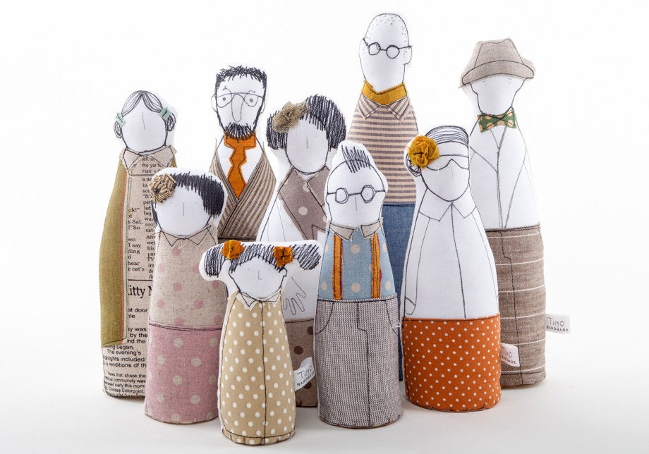 Timo-handmade Family portrait art dolls